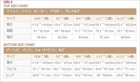 forever21のサイズ表